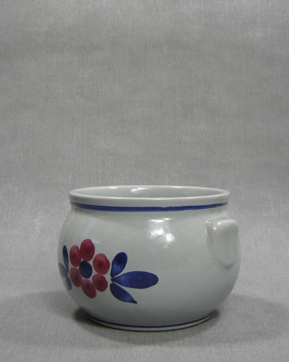 1521 - bloempot genummerd blauw - rood