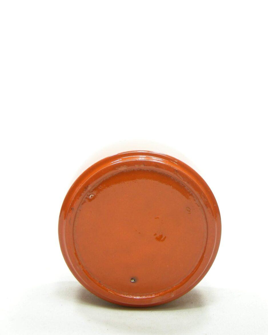 1527 - bloempot ADCO 191 op stokjes gebakken oranje