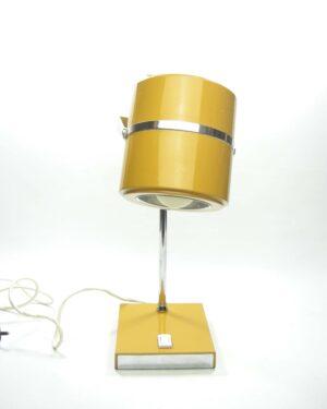 1549 - vintage lamp oker-bruin-chroom