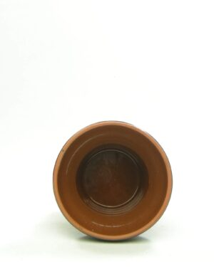 1552 – vintage bloempot met dikke rand bruin