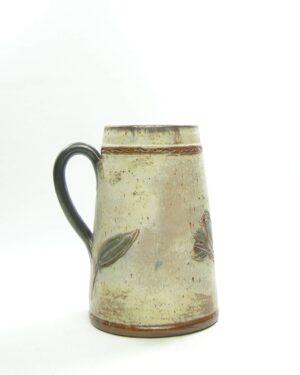 1553 – vintage vaas Baron W2 met vogels bruin – blauw – zwart