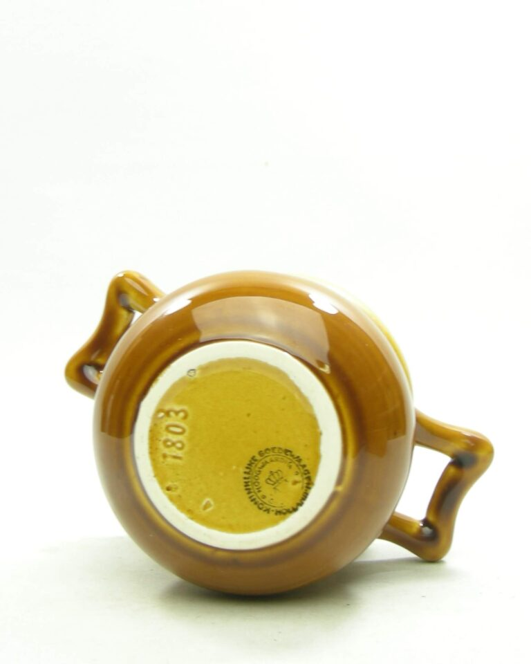 1557 – vintage bloempot Koninklijke Goedewaagen Holland 1803 bruin