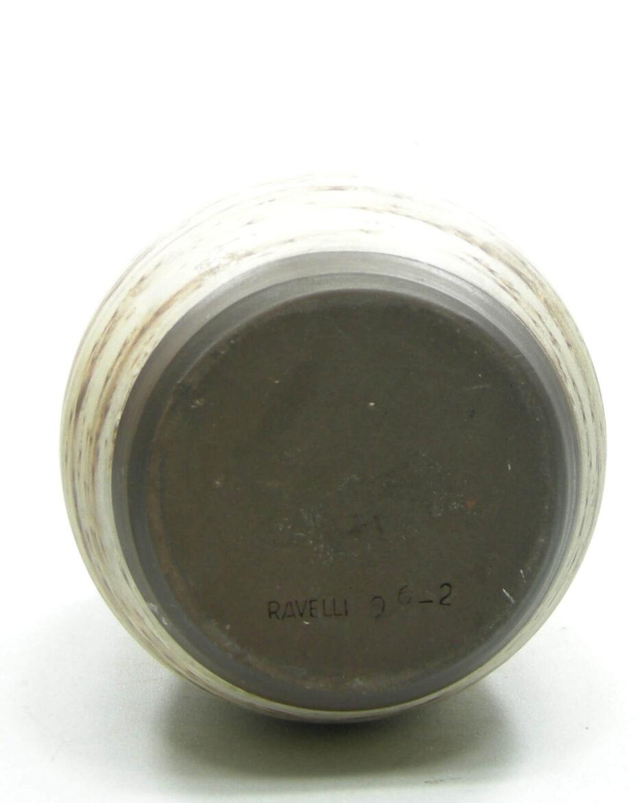 1570 - vintage vaas Ravelli 96-2 berkenbast bruin
