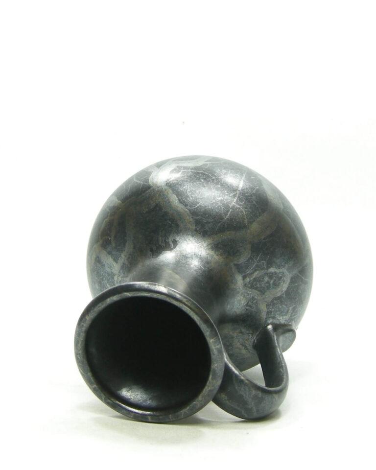 1579 – vintage vaas West Germany Dumler & Breiden 030/15 zwart – bruin