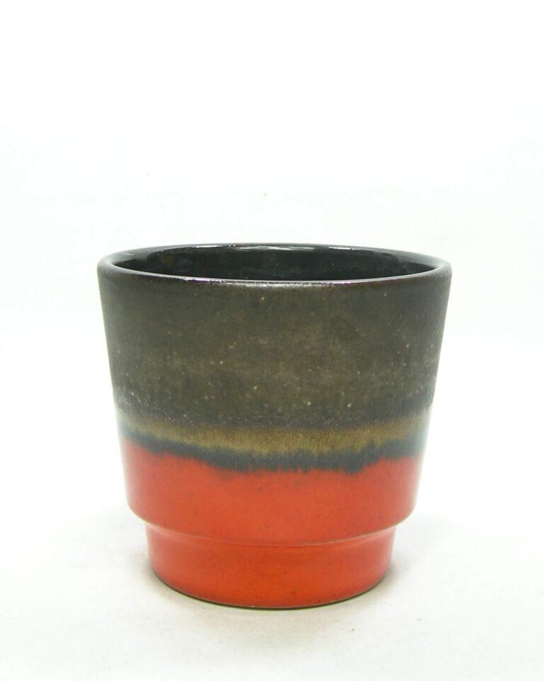 1580 – vintage bloempot 14 oranje -bruin
