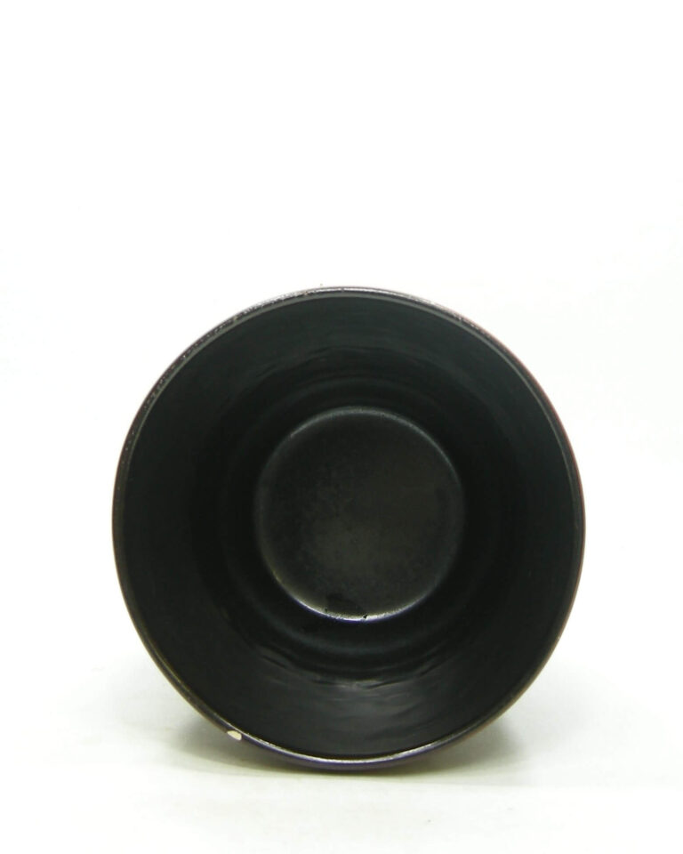1581 – vintage bloempot Dumler & Breiden 80-14 bruin – zwart