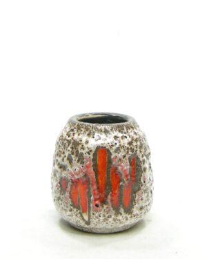 1592 – vintage vaasje Scheurich Lora decor oranje – bruin