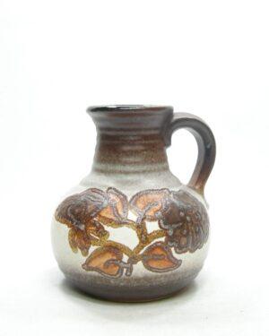 1593 - vintage vaas West Germany Bay keramik 631-14 bruin
