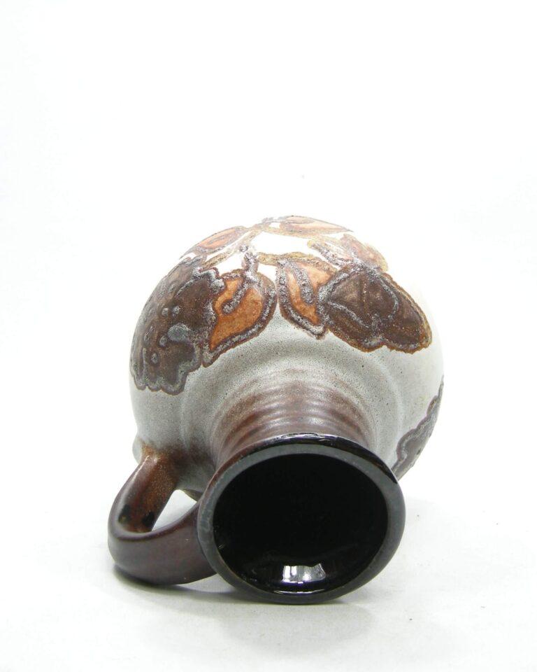 1593 – vintage vaas West Germany Bay keramik 631-14 bruin