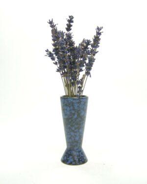 1596 – vintage vaasje 101 zwart – blauw (1)