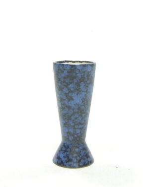1596 – vintage vaasje 101 zwart – blauw (2)