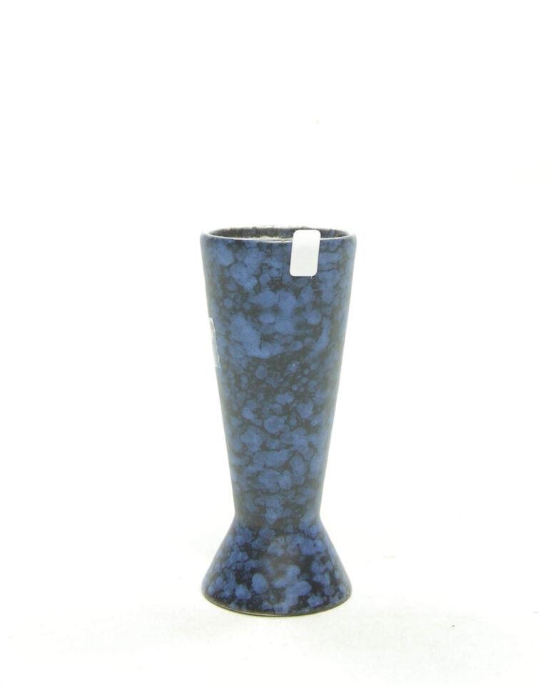 1596 – vintage vaasje 101 zwart – blauw (5)
