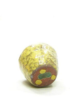 1598 – vintage bloempotje – potje Kunstnijverheid Peeteboom, C. en Zn. Santpoort geel – bruin