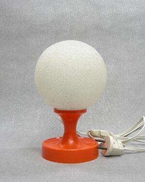 1617 - vintage tafellamp kunststof oranje