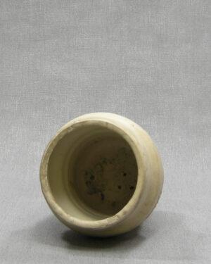 1619 – vintage bloempot Mobach 6 bruin – beige