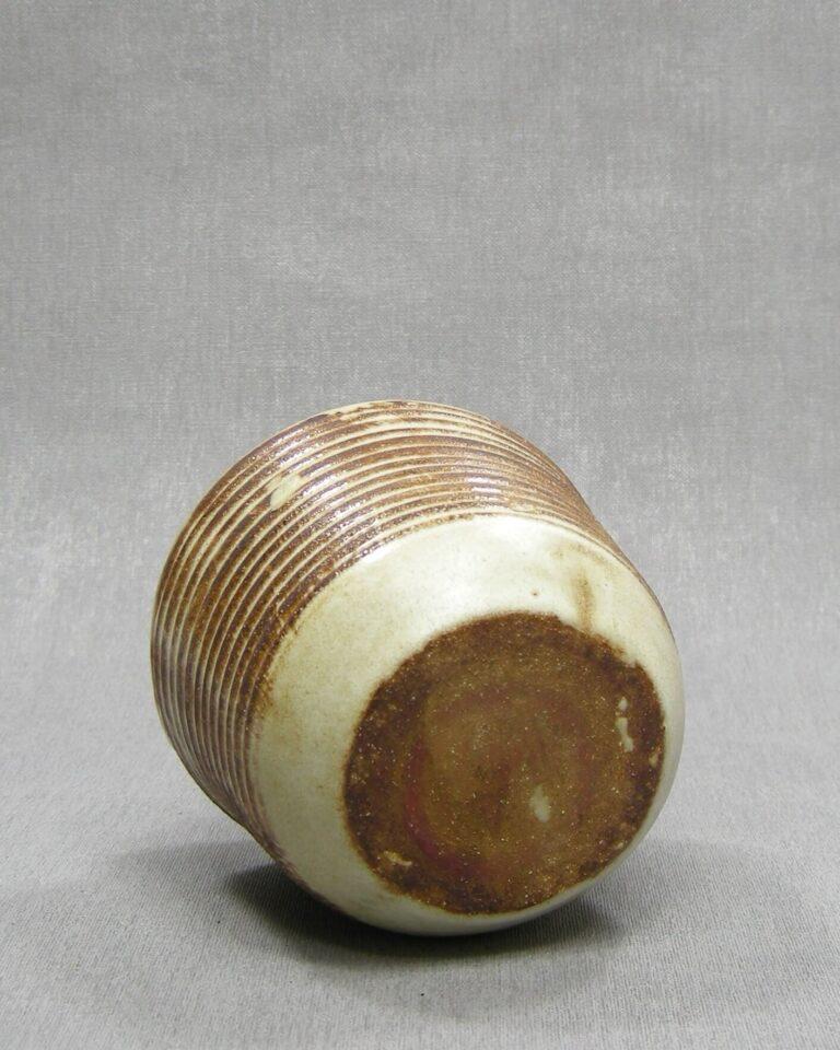 1620 – vintage vaasje gestreept bruin – beige