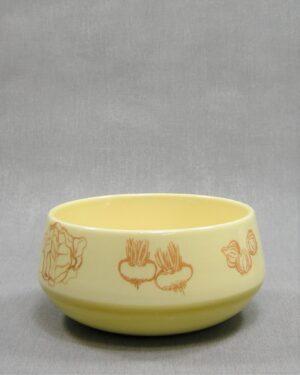 1636 - vintage schaaltje Zenith Gouda groenten geel