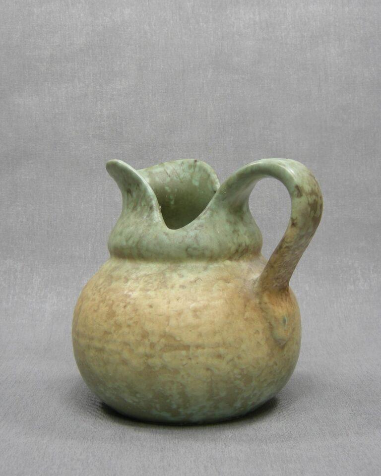 1638 – vintage vaas – kan Koninklijke Plateelbakkerij Zuid Holland Gouda groen-geel-bruin
