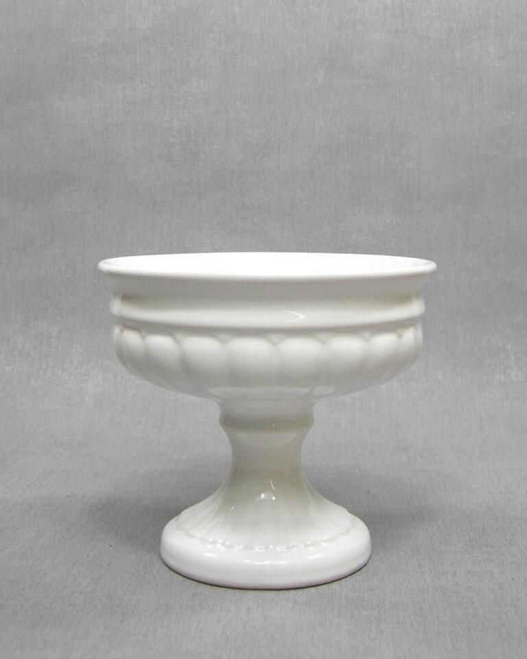 1639 – vintage bloempot op voet wit