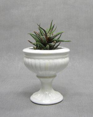 1640 - vintage bloempotje Porcelia Delfts wit