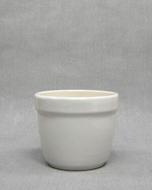 1646 – vintage bloempot effen wit