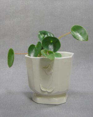 1651 - vintage bloempot Tulp 79-54 wit vierkant