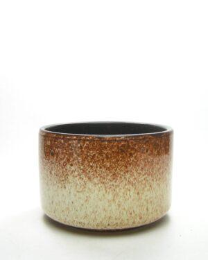 1663 - vintage bloempot 098 22 15 bruin