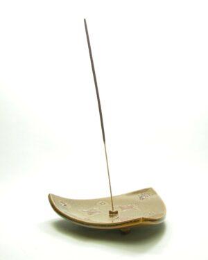1666 - vintage wierrookbrander gesigneerd DR bruin