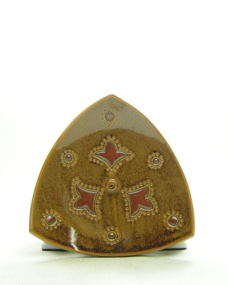 1666 – vintage wierrookbrander gesigneerd DR bruin