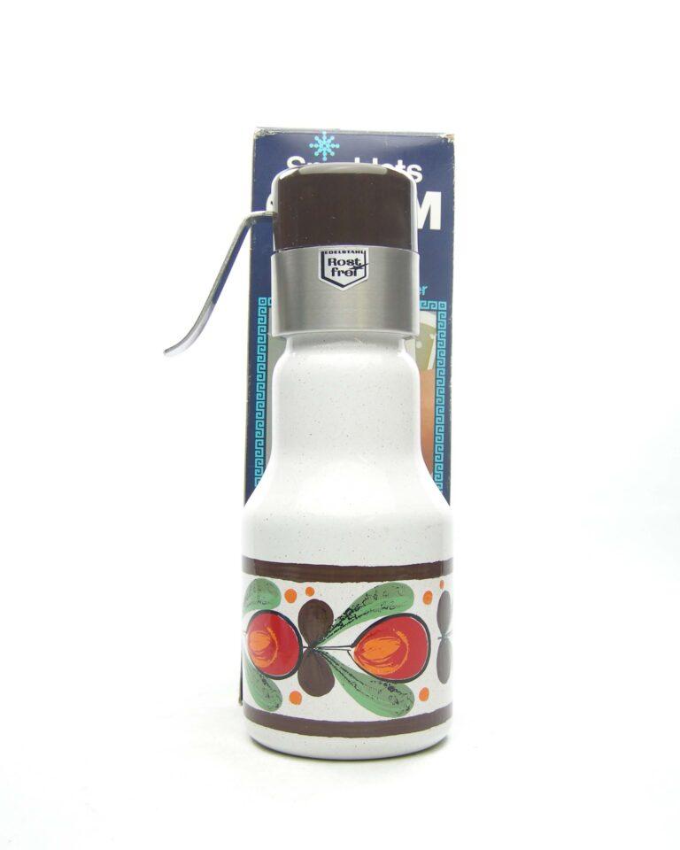 1672 – Vintage Sparklets Cream Maid Montapanna bruin – beige – groen – oranje – rood