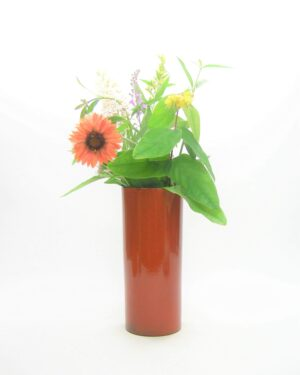 1673 - vintage vaas cilinder oranje