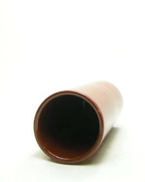 1673 – vintage vaas cilinder oranje