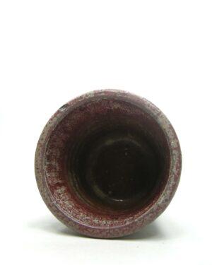 1677 – vintage bloempot MOBACH Utrecht groen – bruin – rood