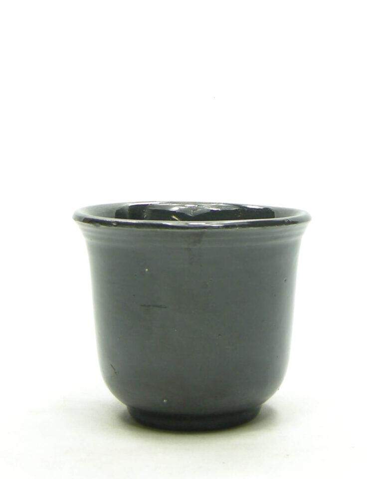 1679 – Vintage bloempotje EIN RAVENS 00 op stokjes gebakken zwart (2)