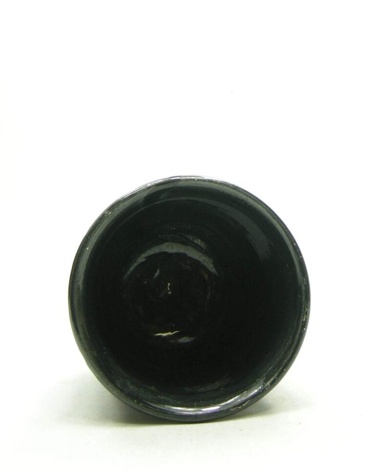 1679 – Vintage bloempotje EIN RAVENS 00 op stokjes gebakken zwart (3)