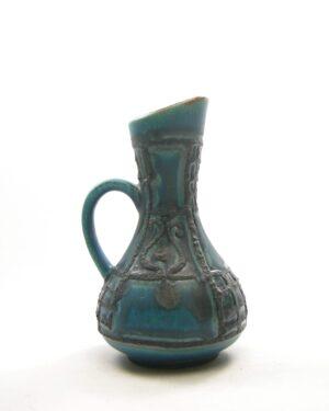 1683 - vintage vaas West Germany Bay 298 17 blauw zwart
