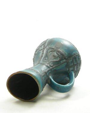 1683 – vintage vaas West Germany Bay 298 17 blauw zwart
