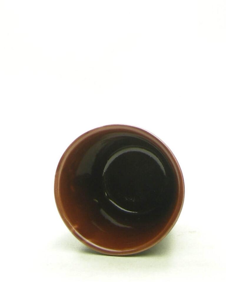 1695 – vintage mini bloempotje bruin